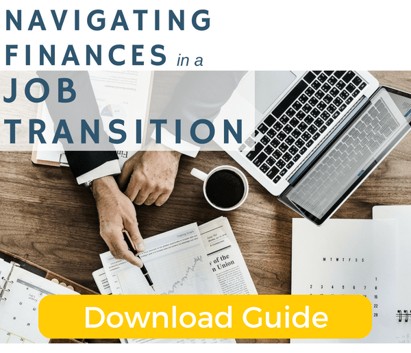 Managing your finances during a job transition